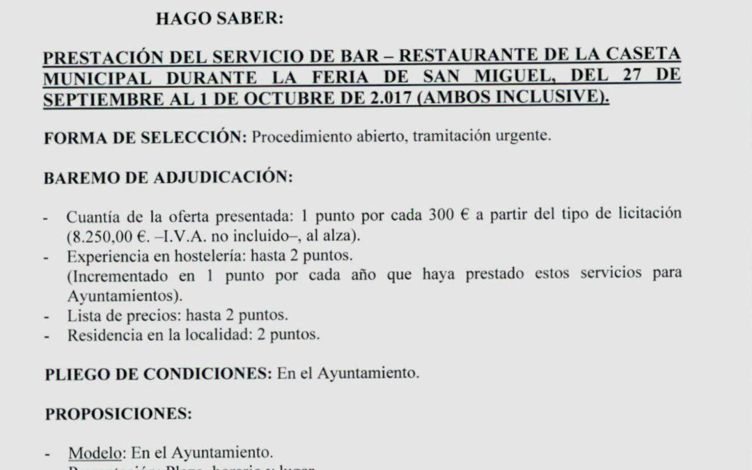Bando: Bar Feria 2017 1