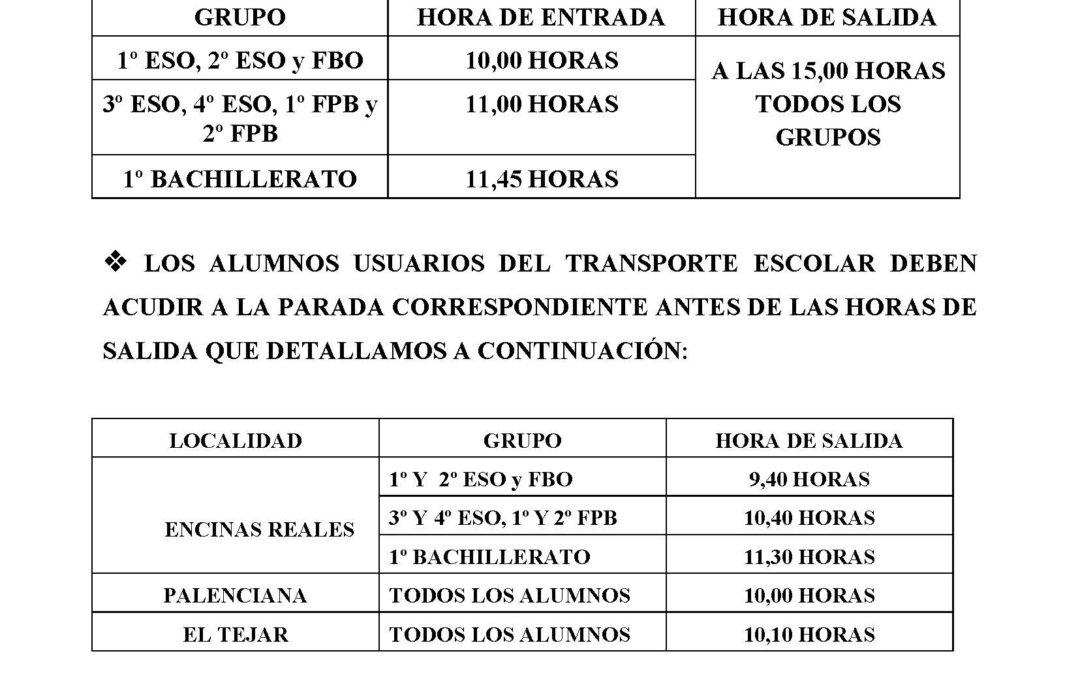 Horarios Apertura curso 2017/2018 1