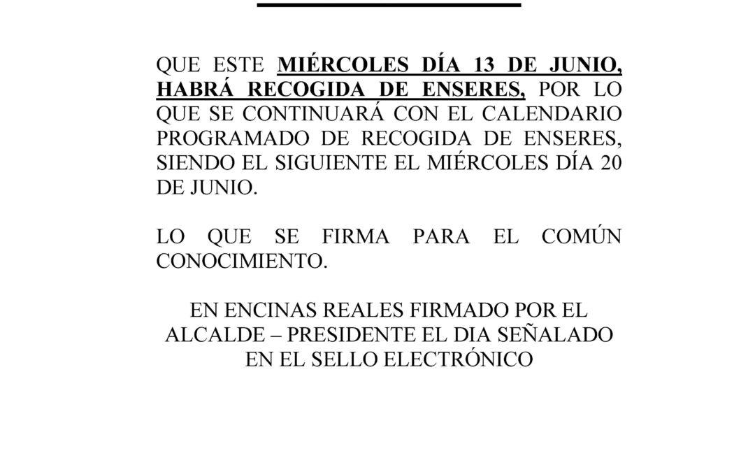 Informa: Recogida de Enseres, Reanudación 1