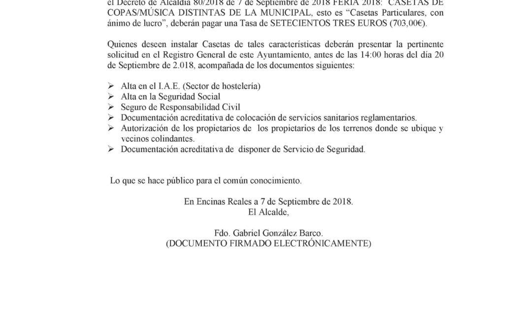 Bando Casetas Distintas a la Municipal 2018 1