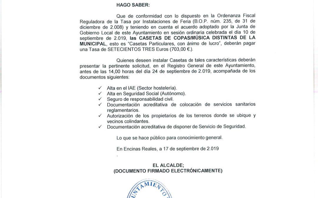 Bando Casetas de Copas-Música distinta a la Municipal 1