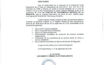 Bando Casetas de Copas-Música distinta a la Municipal