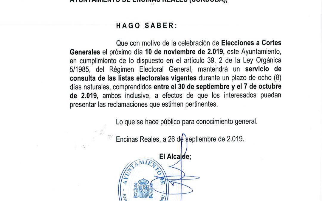 Consulta de Listas Electorales 1