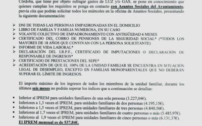 Bando: Pobreza Energética 2019-2020