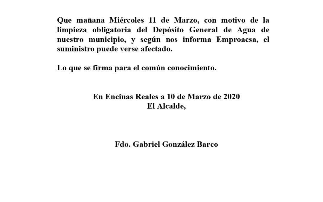 Informa: Depósito General del Agua 1