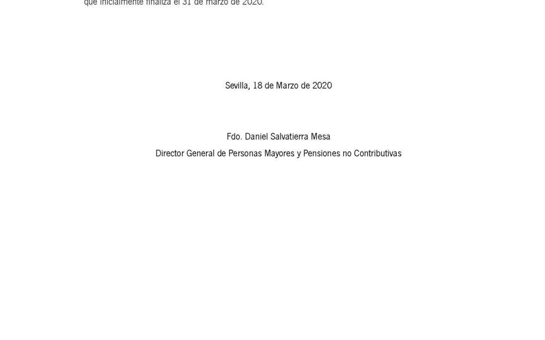 Suspensión Declaración de Ingresos Pensión No Contributiva 1
